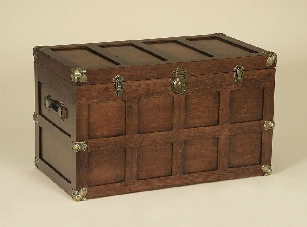 amish steamer trunk linen blanket chest handmade hardwood brass u0026 leather hardware usa