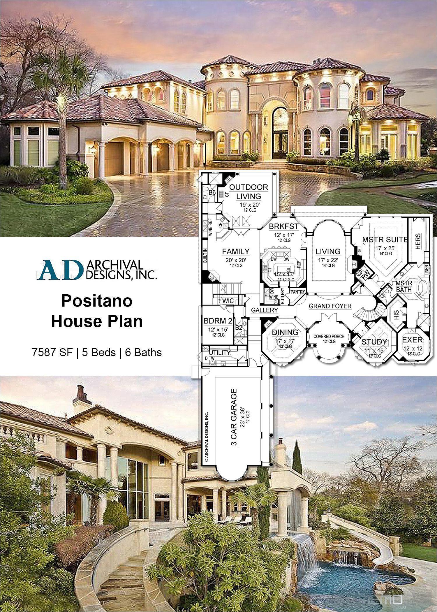 Jun 19 2019 Elegant Luxury Abounds In This Mediterranean Mansion House Plan Total L House Plans Mansion Luxury House Floor Plans Mediterranean House Plans