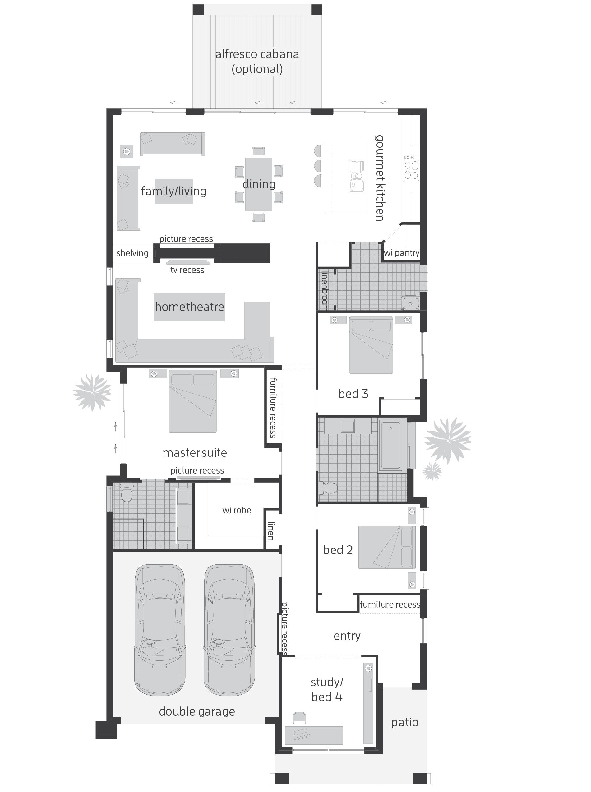 Awesome Floor Plans For Narrow Blocks #1: Beautiful Narrow Block ...