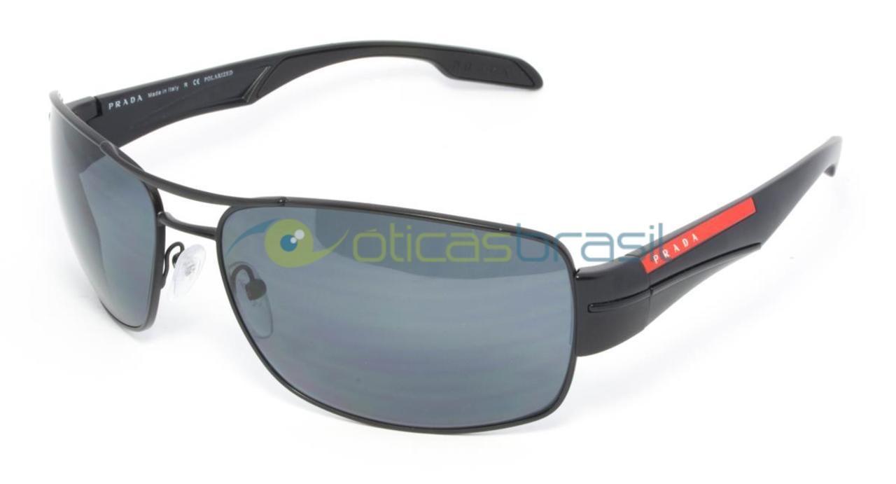 53302cdb5c2e4 O Prada Linea Rossa SPS 53N é de um design quadrado muito sofisticado. Esse  óculos