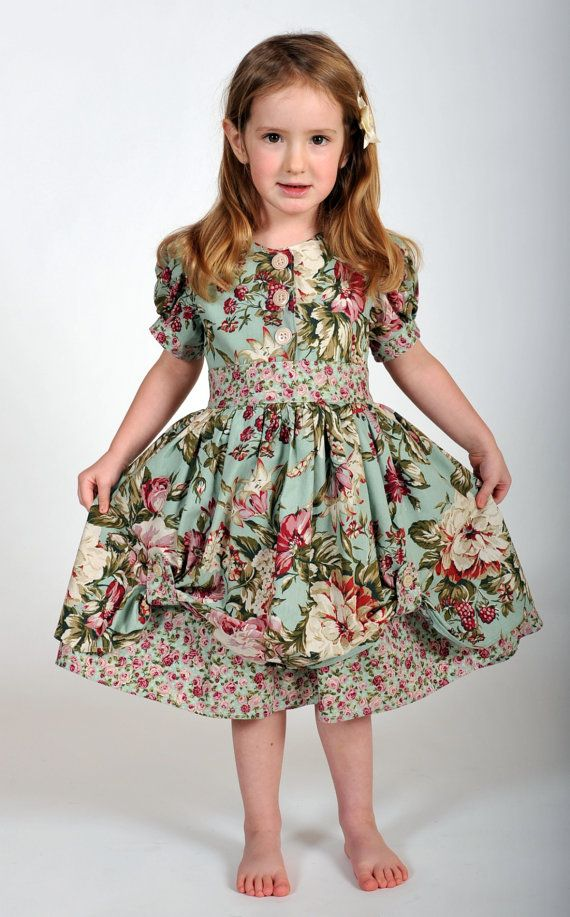 Girls Vintage-Inspired Dress, Easter Dress, Children Clothing ...