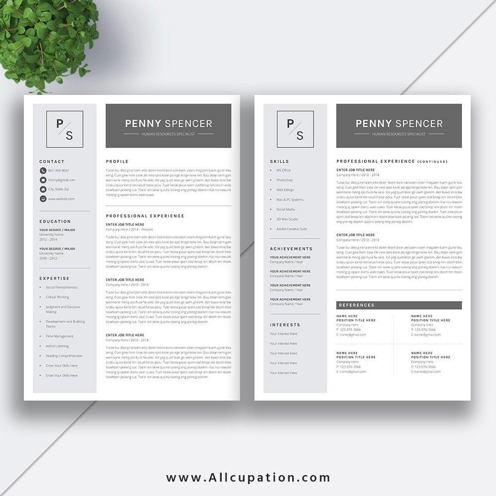 Www Allcupation Com Resume Templates Images Penny 2 Page Resume Resumetemplatesfree Resume Design Creative Resume Design Resume Template