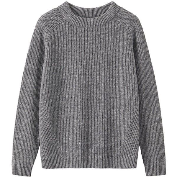 fd648dd7a7e Toast Ribbed Wool Jumper , Grey Melange ($43) ❤ liked on Polyvore ...
