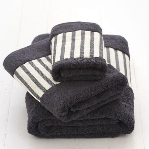 Bath Towel Set Black White Stripe House Planning Bath Towels