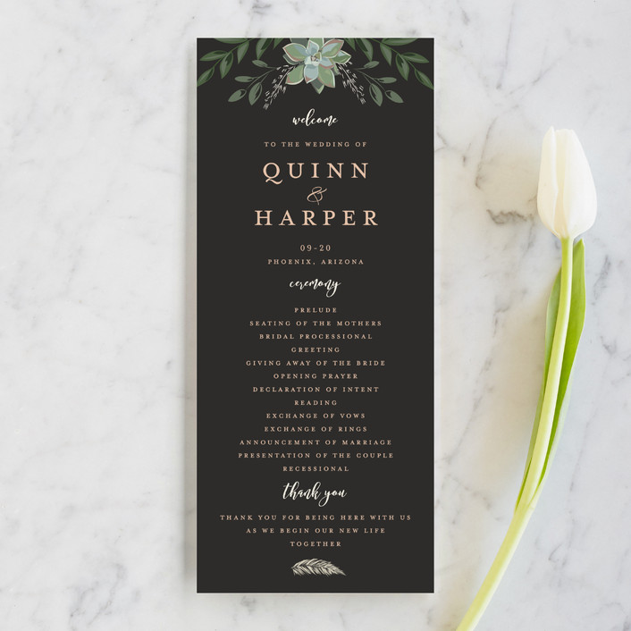 What Should Be In Your Wedding Program Plus 12 Of Our Favorite Wedding Program Ideas In 2020 Unique Wedding Programs Wedding Programs Country Wedding Centerpieces