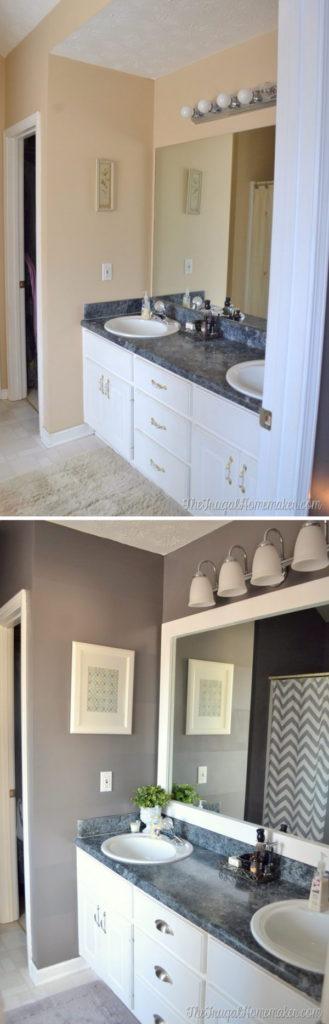 3 Easy Bathroom Mirror Makeover