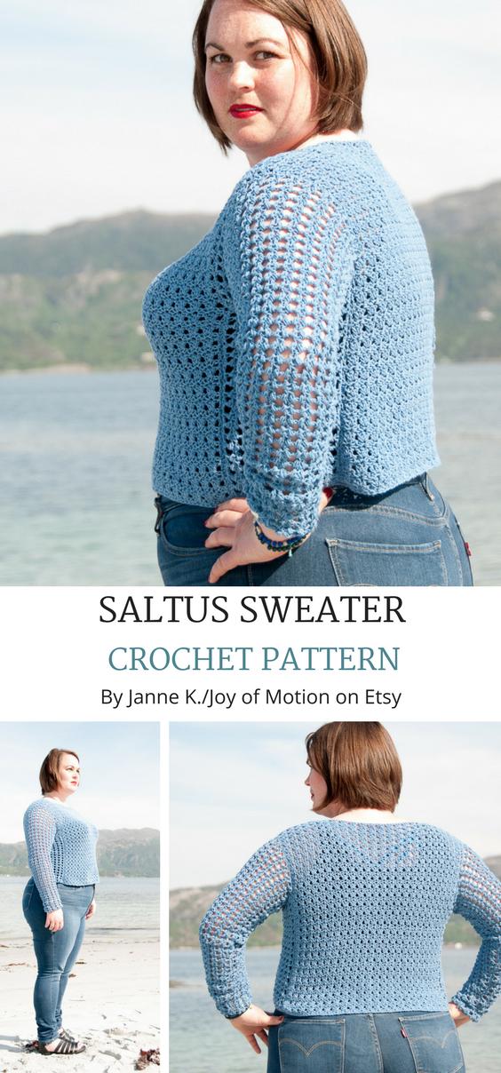 Crochet Pattern Saltus Sweater Crochet Pattern Pdf Crochet