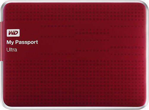 Wd My Passport Ultra 1tb External Usb 3 0 Hard Drive Red Portable External Hard Drive Portable Hard Drives Hard Drive