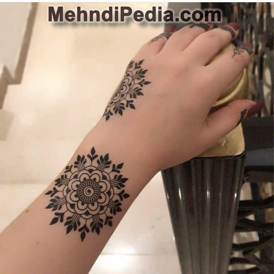 arabic mehndi design back side right hand