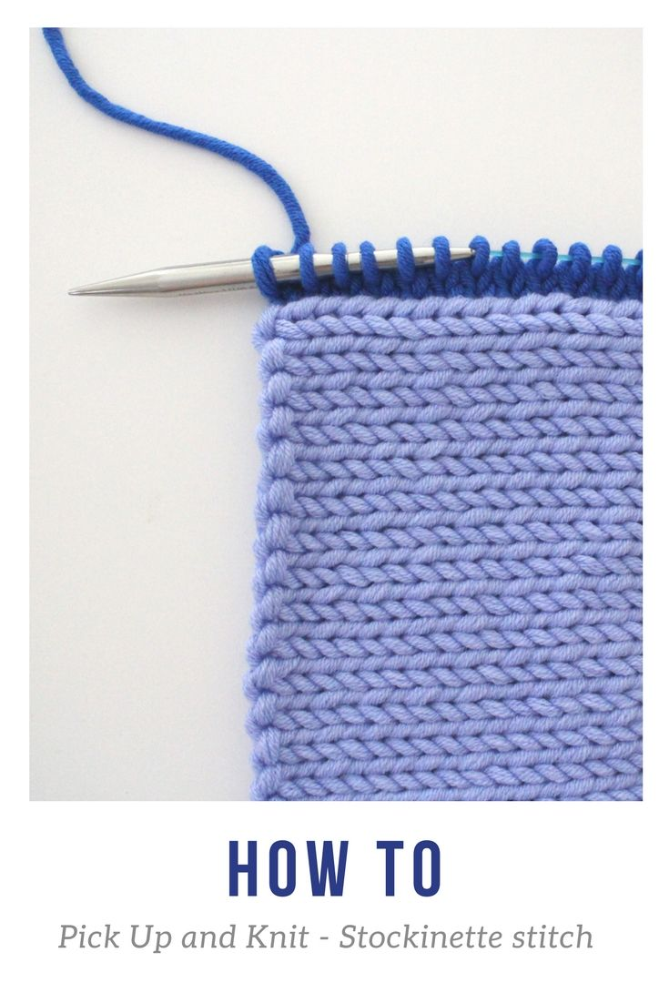 Pin on How to Pickup and Knit on Garter Stitch