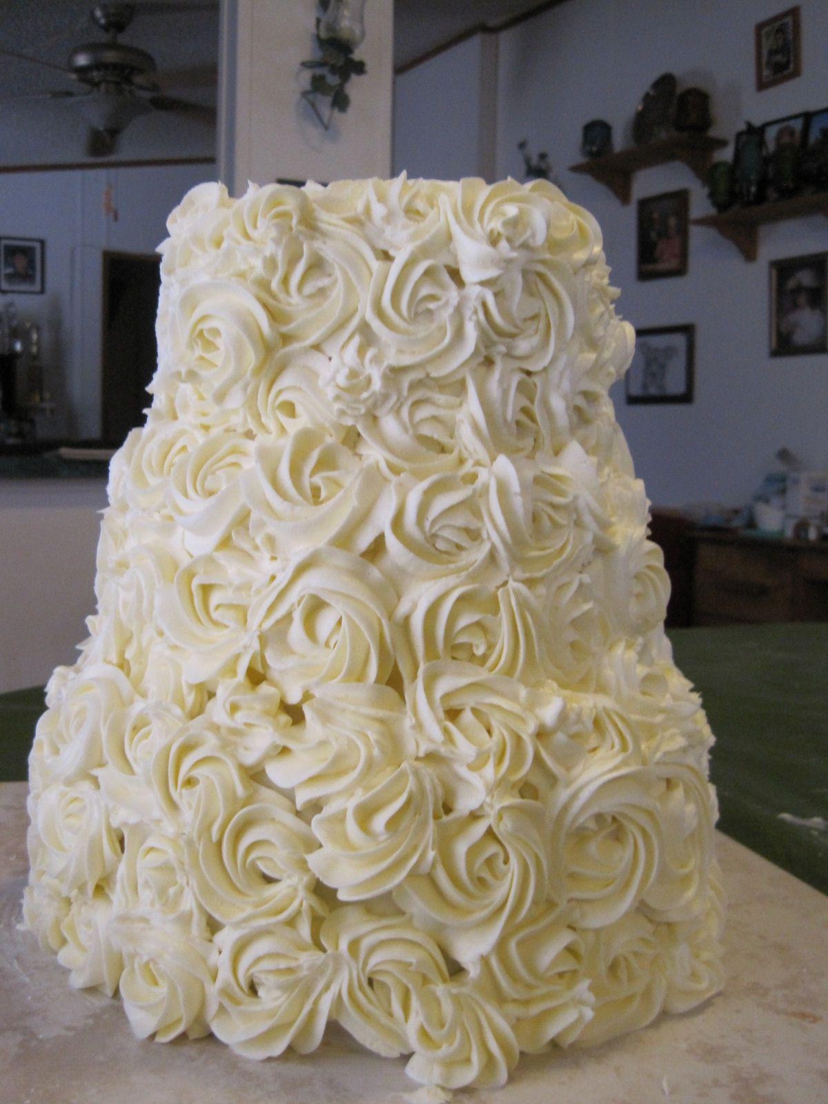 Plain rosette cake Cakes Pinterest