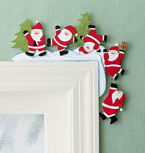 Christmas Door Frame Decorations: To Hang On A Door Frame - How Cute!