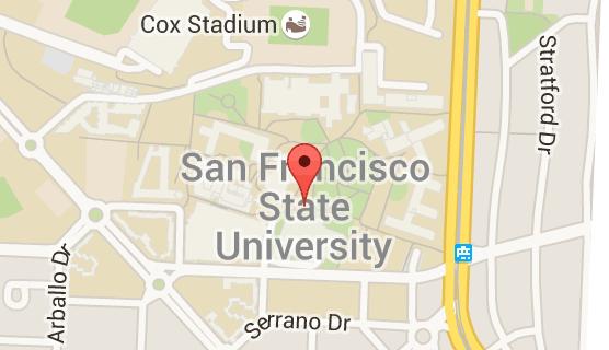 Map of san francisco state university | San francisco state ...