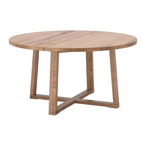 Tavolo Vetro Rotondo Ikea.Morbylanga Table Oak Veneer Brown Stained 57 1 8