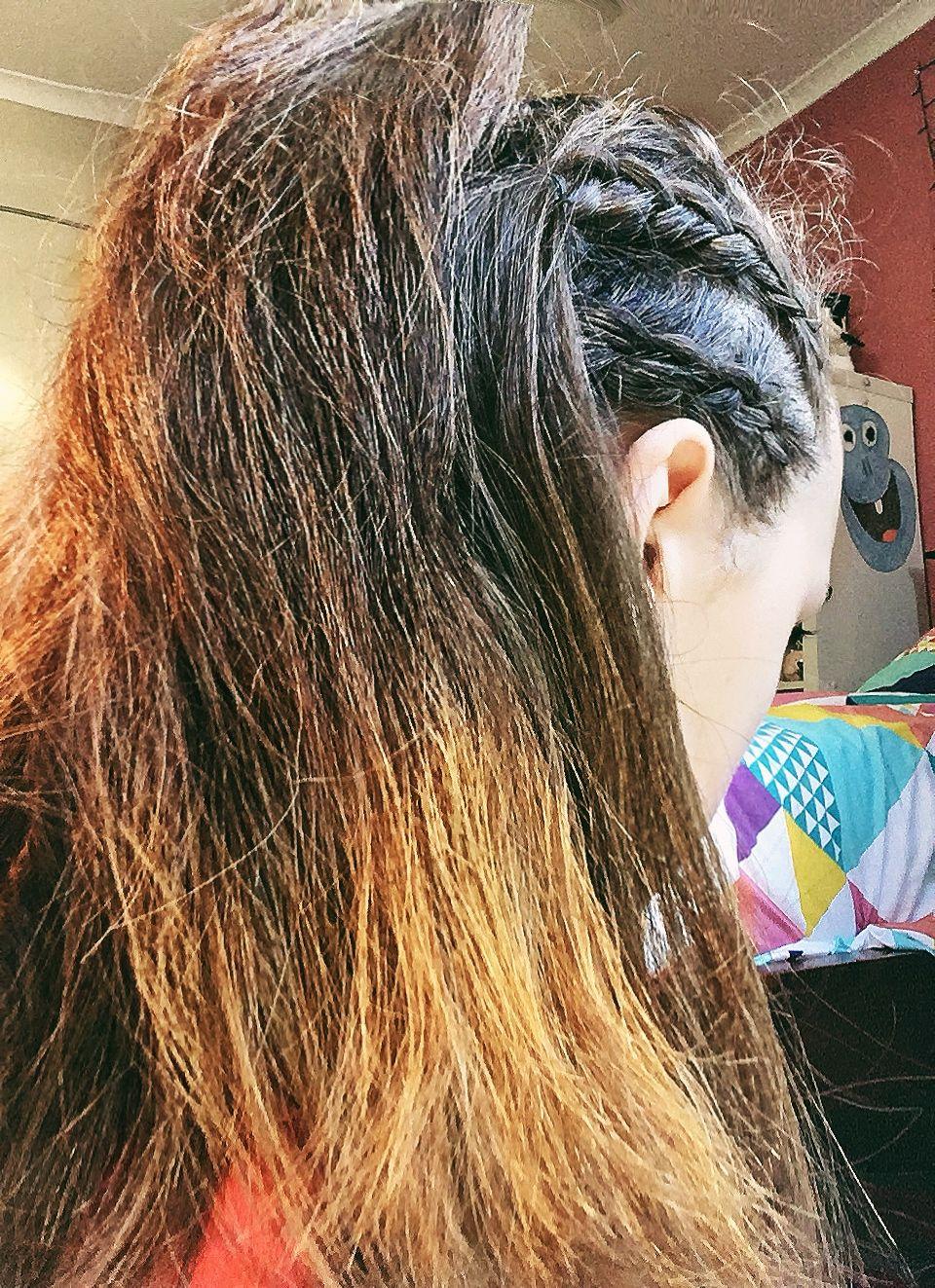 Easy back to school braid half up half down hair style hair