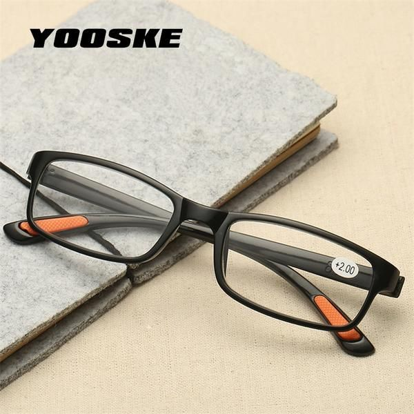 3d68650bef YOOSKE Women Men Reading Glasses Toughness TR90 Ultra-Light Resin Material For  Female Male Reading