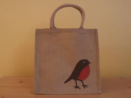 hot new products free shipping huge inventory Decorate plain jute bag for 'hamper' presents instead of ...
