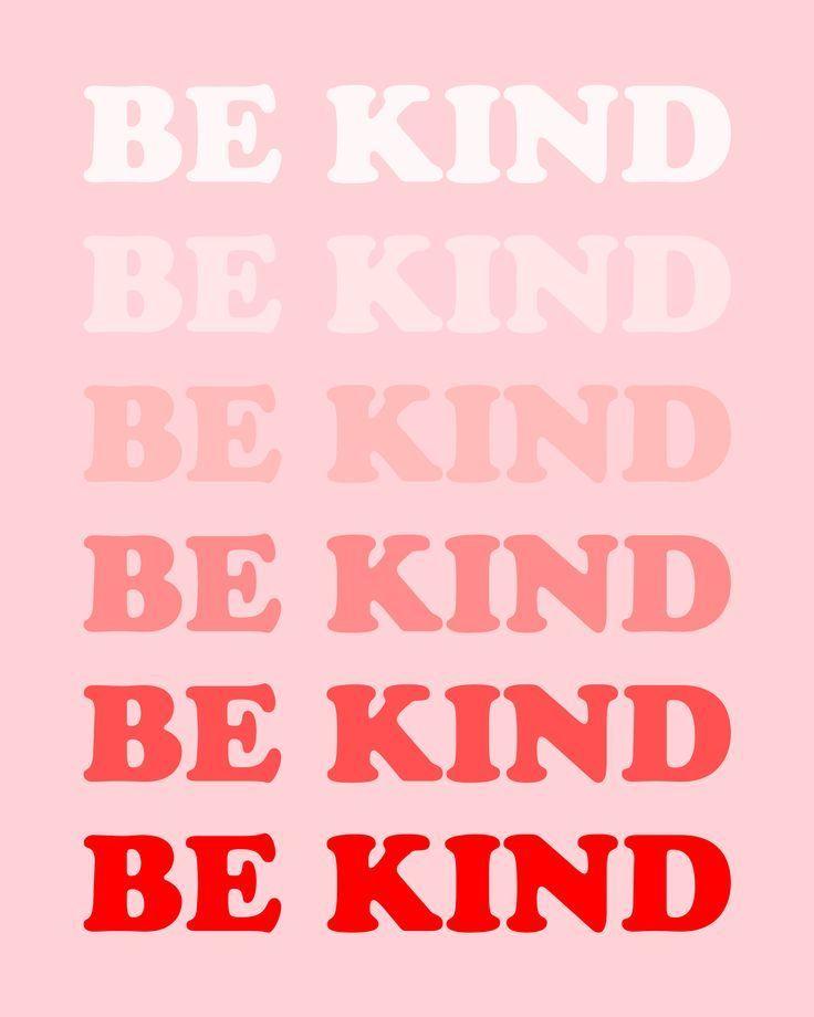 Be kind wall art print. #wallart #artprint #roomdecor