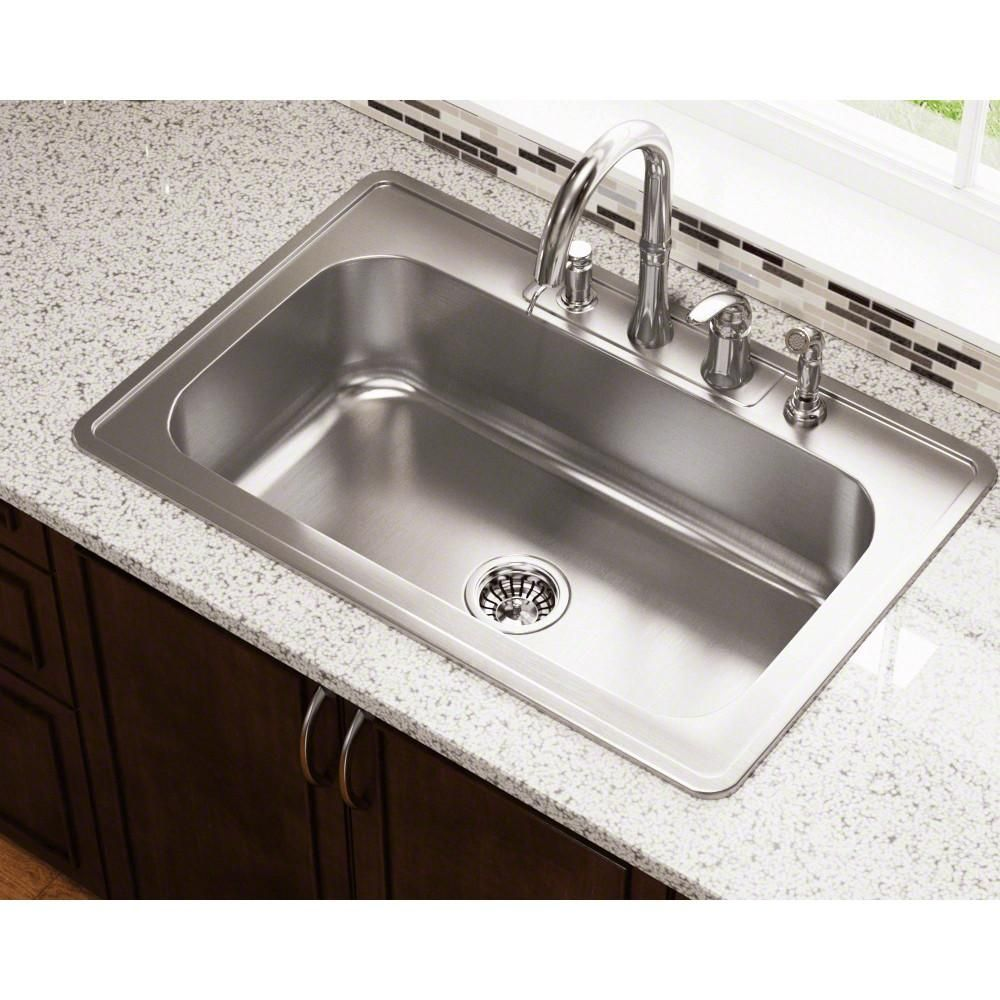 pt0301us single bowl topmount stainless steel sink in brushed satin in 2019 steel kitchen sink on kitchen sink id=14168