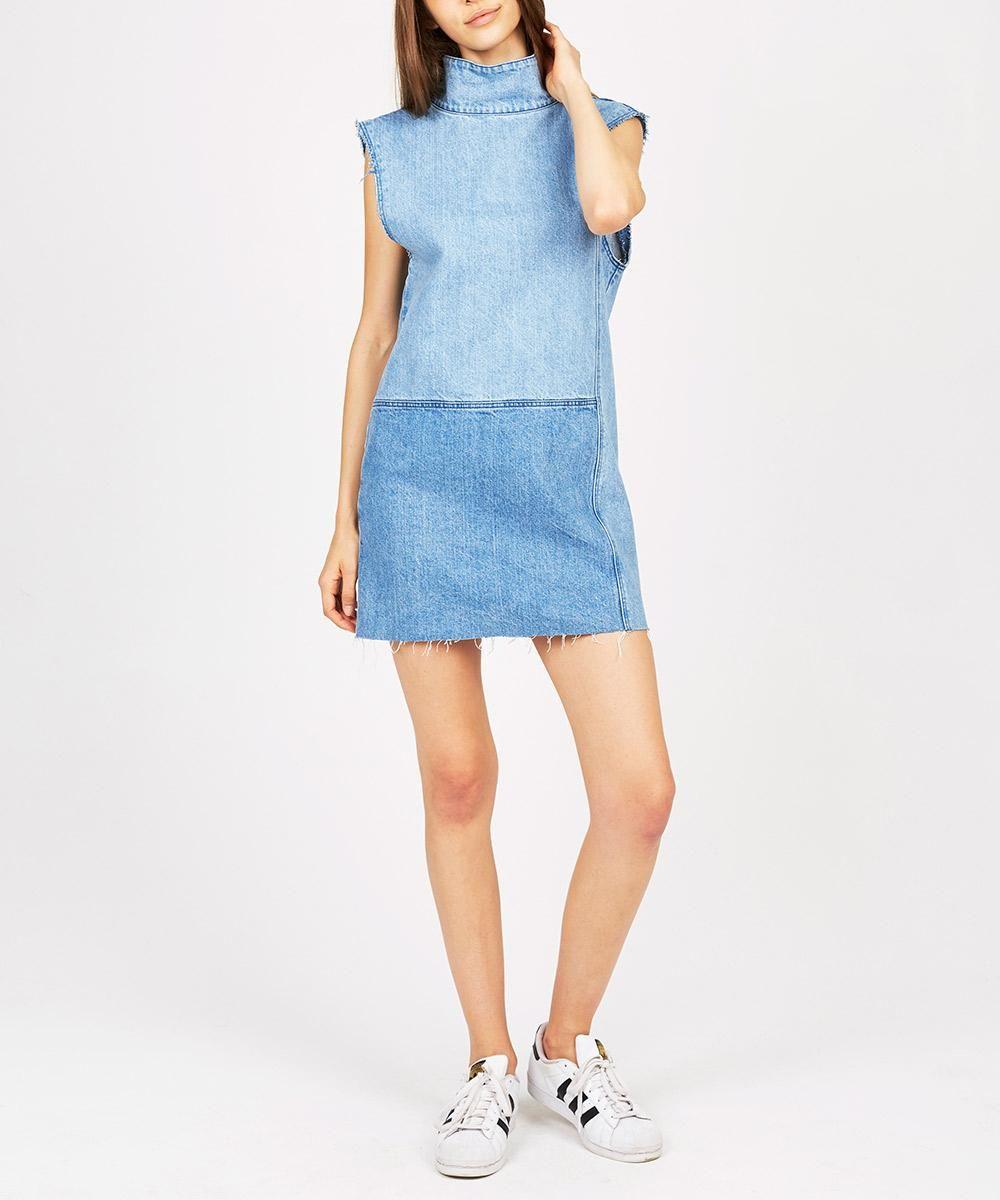 10b87461ec Ksubi DENIM PATCH SHIFT DRESS