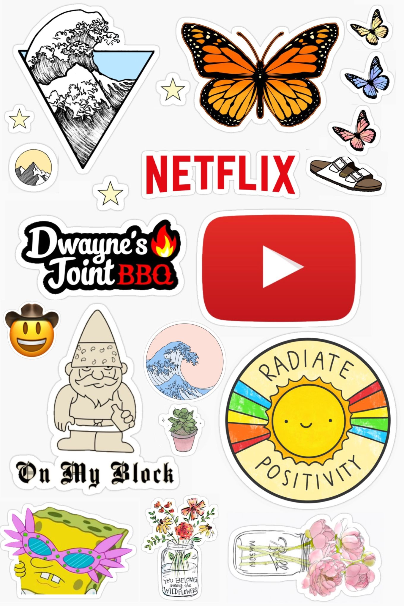 Cute And Trendy Printable Stickers Tags Youtube Netflix