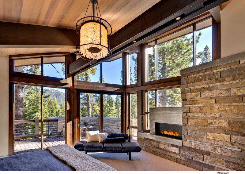 Atypique maison en bois et pierre en lisi re de for t aux - Residence inversee studios architecture en californie ...