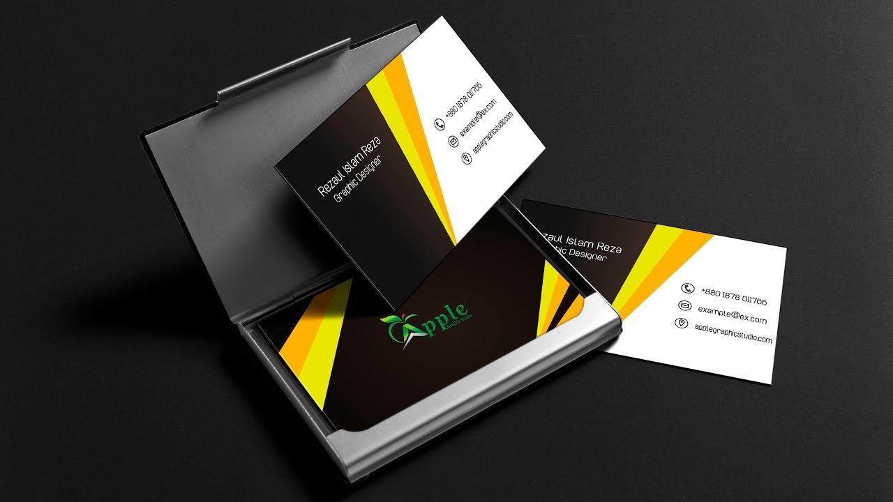 Fantastic Business Card Design | Photoshop Tutorial | Business Card ...