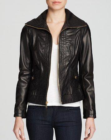 MICHAEL Michael Kors Mizzy Wing Leather Jacket   Bloomingdale's