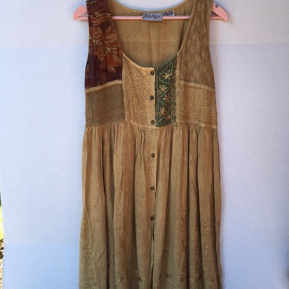 Hey, I found this really awesome Etsy listing at https://www.etsy.com/listing/241468239/boho-festival-dress-with-back-tie-hippie