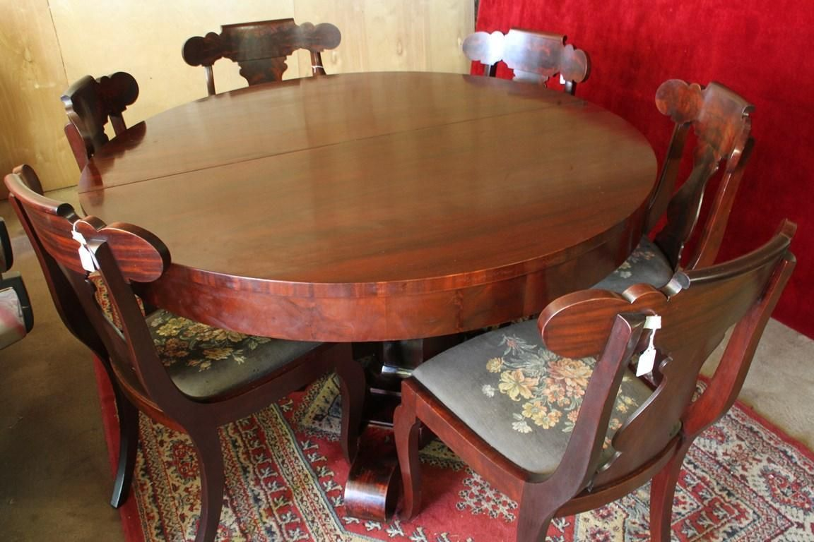 Love This Mahogany Empire Revival Style Dining Room Set Flame