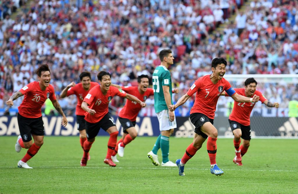 Son Heung Min Of Korea Republic Celebrates After Scoring His Sides Fifa World Cup World Cup Groups World Cup