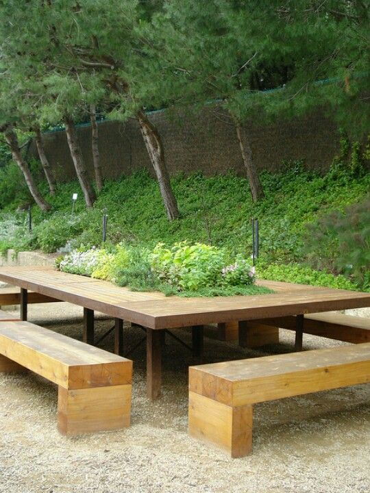 Outdoor table idea