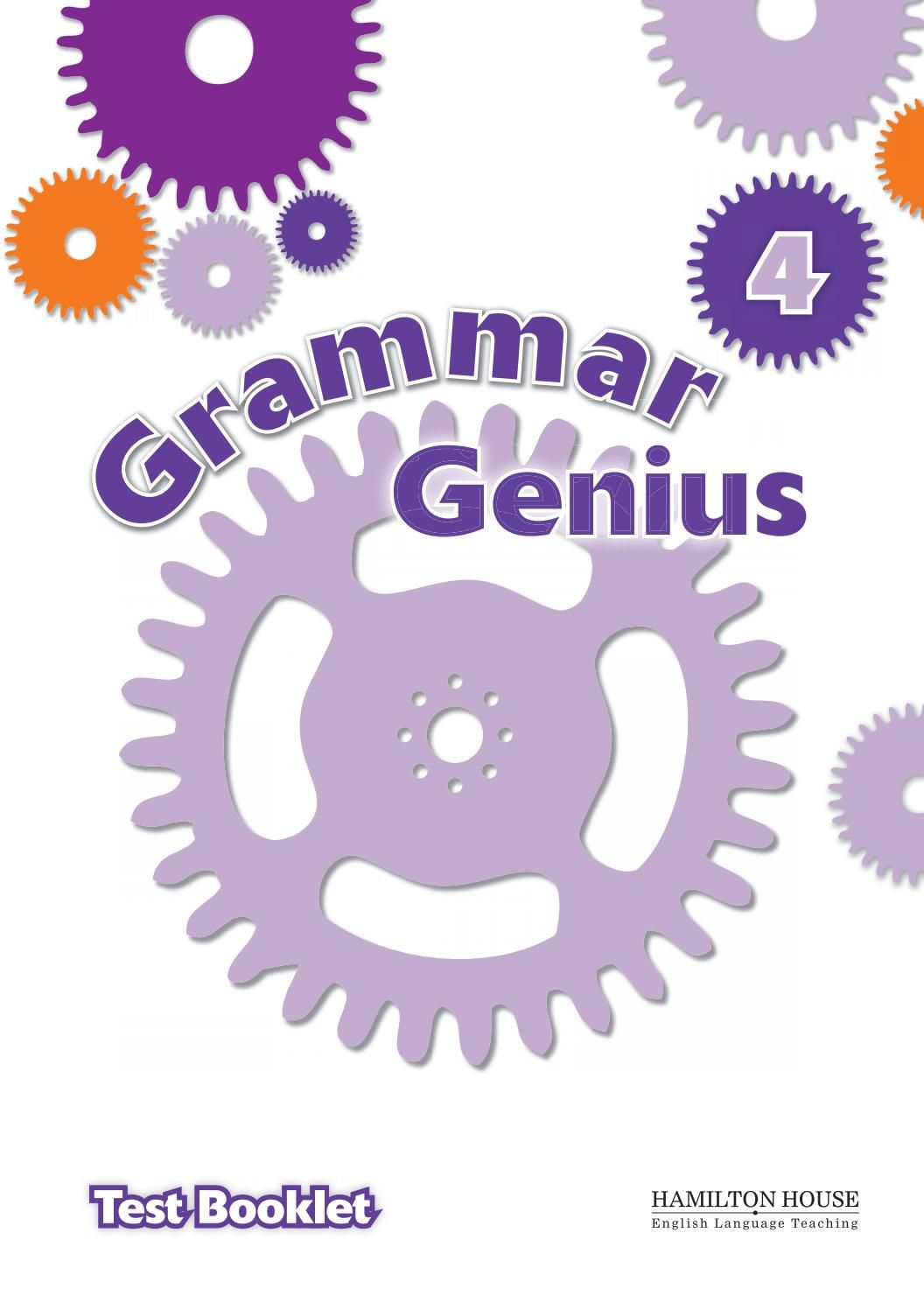 Grammar Genius 4 Test Booklet