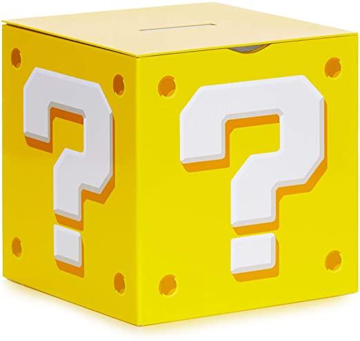 Amazon Com Paladone Nintendo Super Mario Bros Question Block Money Box Coin Bank Toys Games Mario Bros Super Mario Bros Super Mario
