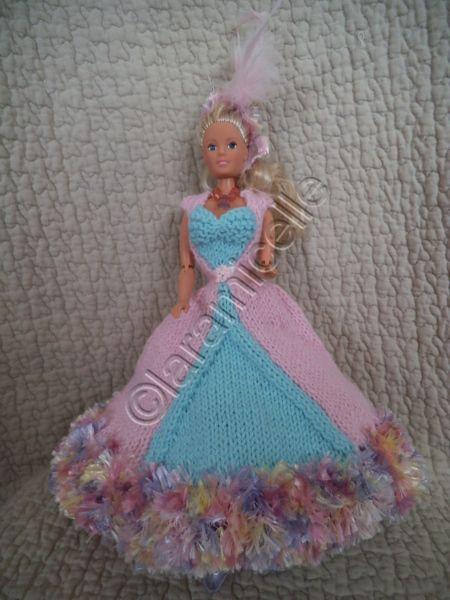 tuto gratuit barbie: robe de princesse \