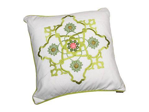 Echo Design Gramercy Paisley - Square Pillow White - Zappos.com Free Shipping BOTH Ways