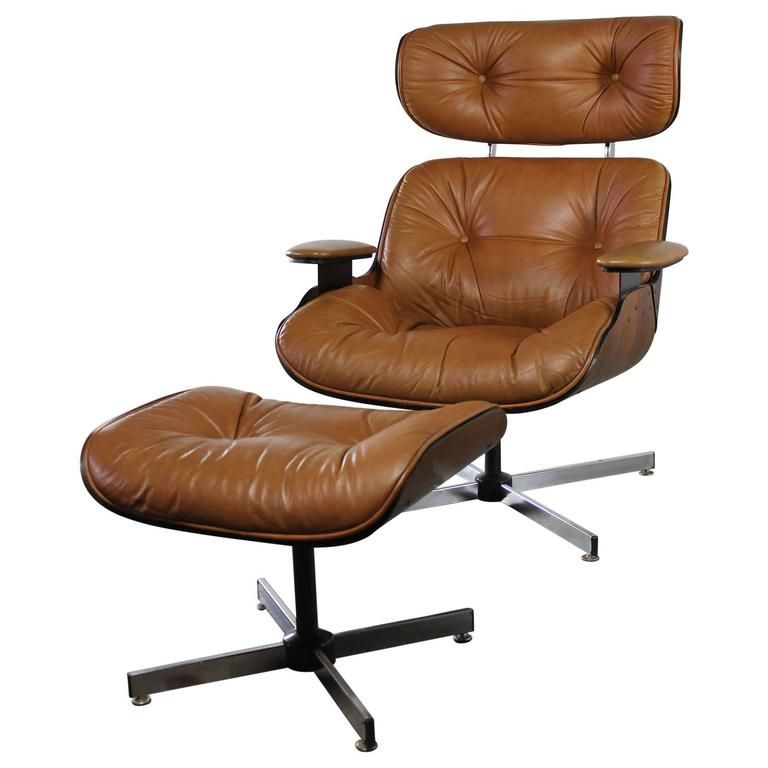 Fine Mid Century Modern Plycraft Eames Style Lounge Chair And Creativecarmelina Interior Chair Design Creativecarmelinacom