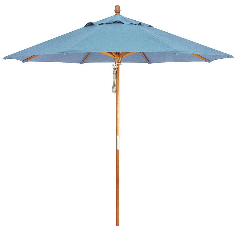 Premium teak market umbrella. Features solid brass double-pulley system. Canopy vented to  sc 1 st  Pinterest & Premium teak market umbrella. Features solid brass double-pulley ...
