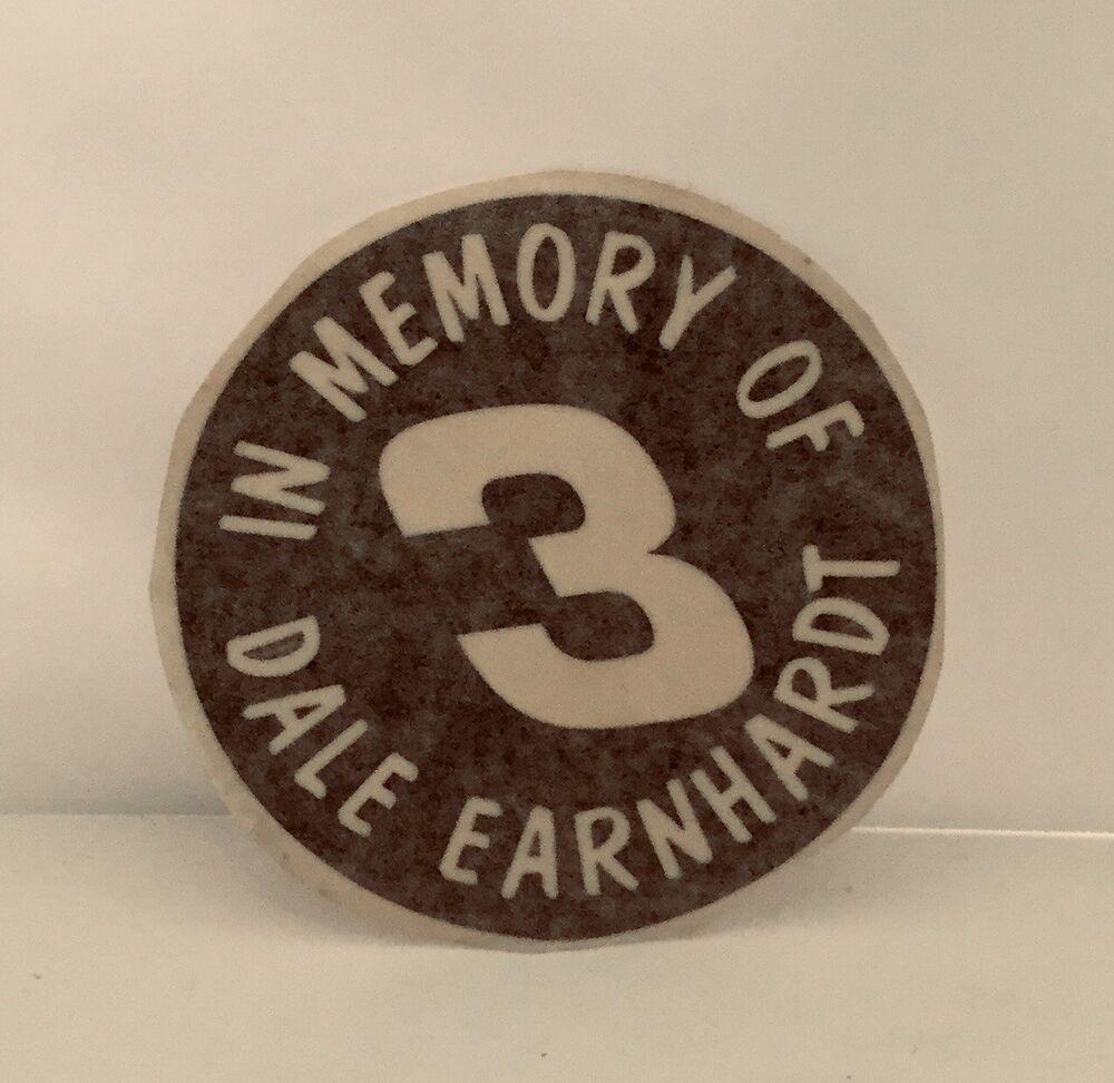 In memory of dale earnhardt sr decal sticker 4 diameter ebay