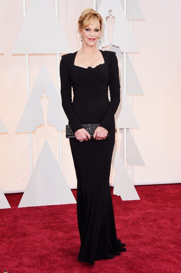 Melanie Griffith Academy Awards Red Carpet Red Carpet Oscars Celebrity Dresses