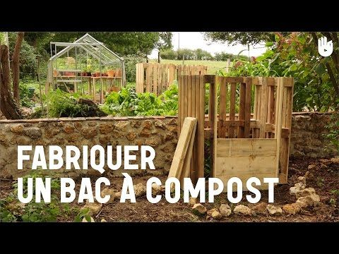fabriquer un bac compost youtube garden pinterest composteurs palette et bac. Black Bedroom Furniture Sets. Home Design Ideas