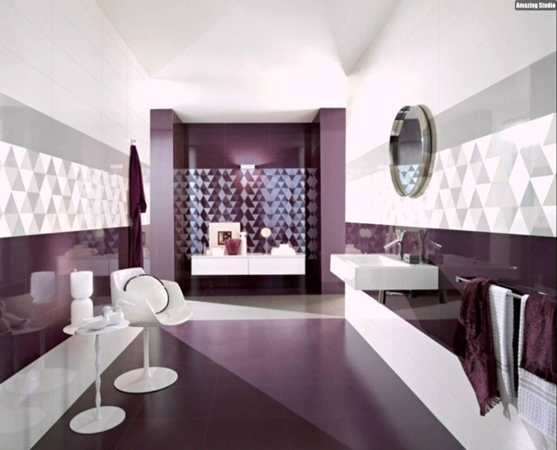 Badezimmer Tapezieren ~ Lila badezimmer fliesen wand gestaltung ideen youtube bungalow