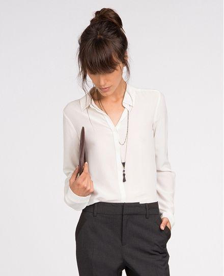 Chemise en soie tuniques et chemisiers comptoir des cotonniers style si j 39 tais riche - Chemise comptoir des cotonniers ...