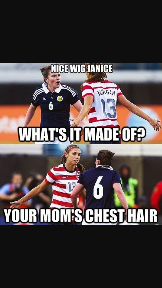 Yeah You Tell Her Alex Morgan Soccer Funny Funny Soccer Memes Soccer Jokes