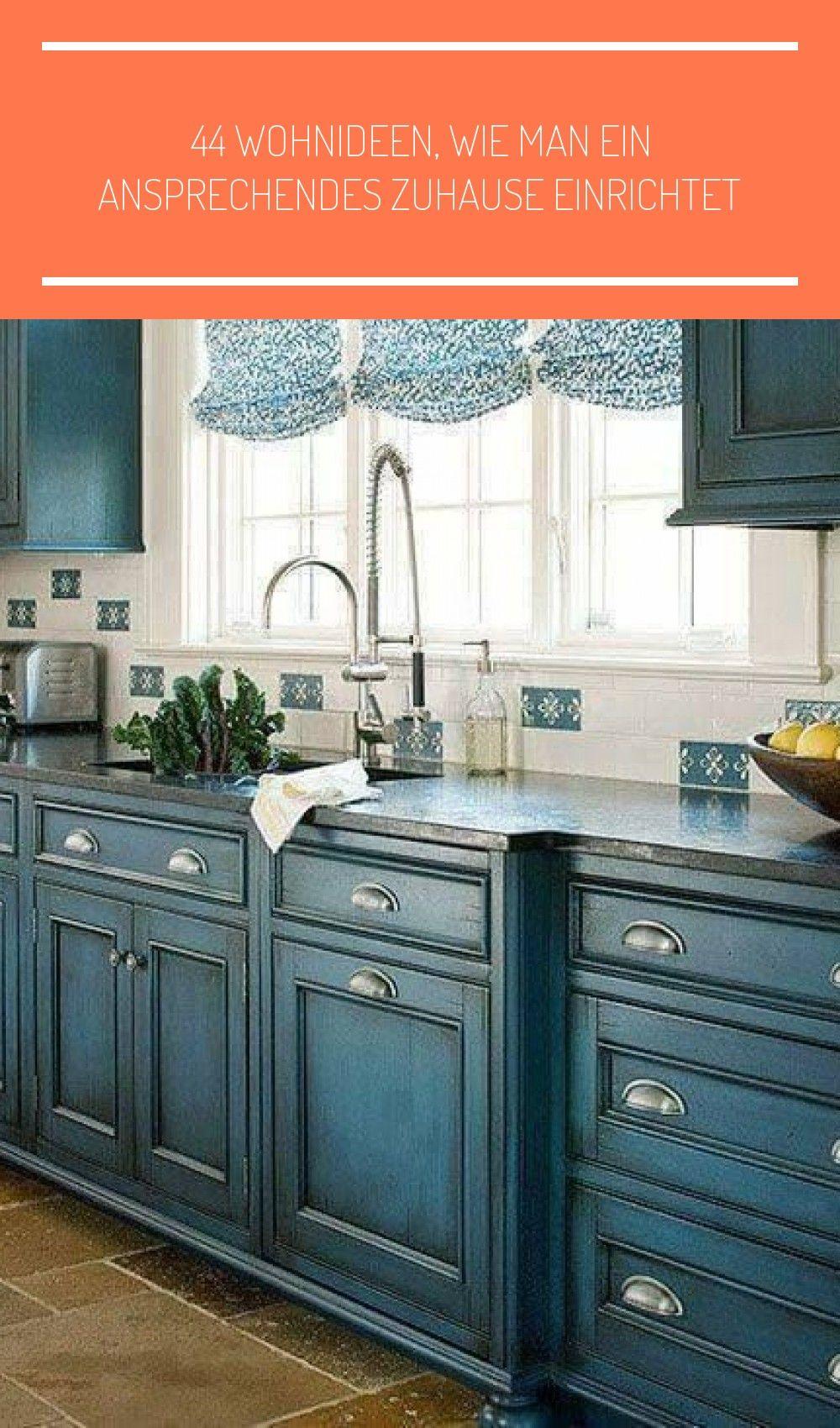 Beautiful Kitchen Blue Kitchen Farmhouse Kitchen Farmhouse Decor Farmhouse Sink Co In 2020 Distressed Kitchen Cabinets Kitchen Cabinet Color Schemes Kitchen Style