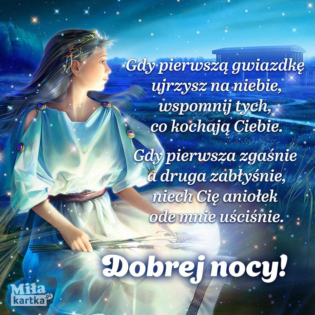 Gwiazdki Na Dobranoc Kartki Wiersze Cytaty Dobranoc Sen