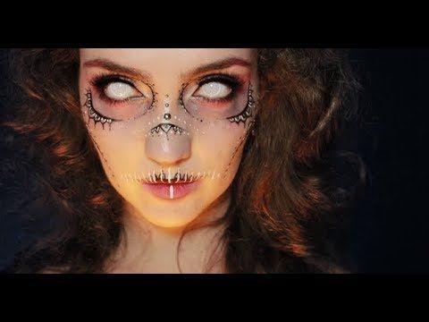 easy elegant skull makeup  halloween  youtube  egypt