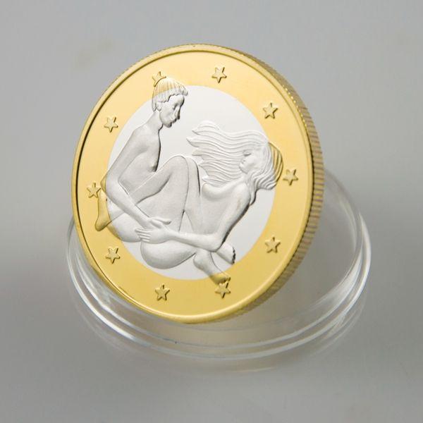 Newest Design Sex 6 Euros Coin Order Make Love Sexy Silver