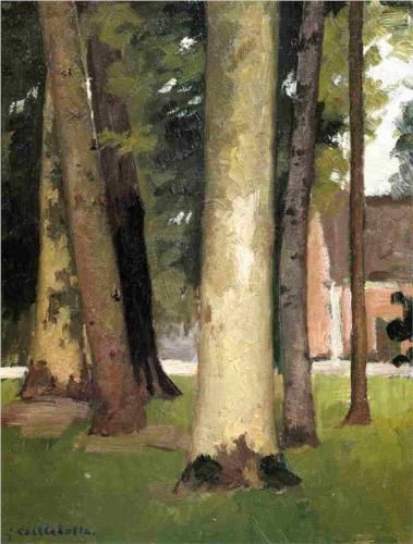 Yerres, Through the Grove, the Ornamental Farm - Gustave Caillebotte, 1871-1878, private collection