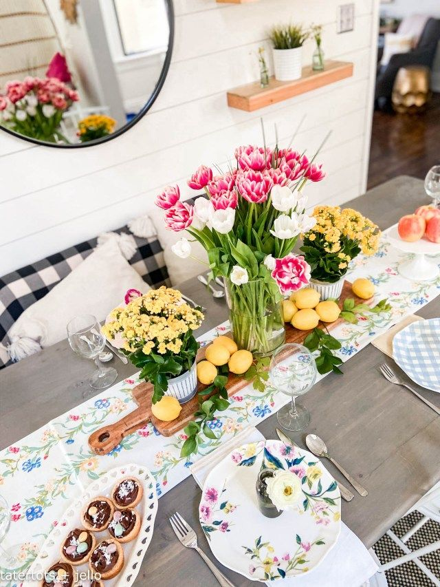 Colorful Boho Cottage Spring Home Tour - easy DIY ideas!